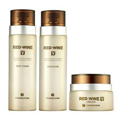 Charm Zone - RED WINE V Set: Skin Toner 130ml + Emulsion 130ml + Cream 50ml