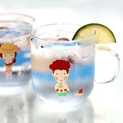 Cute Essentials - Cartoon Print Glass Cup