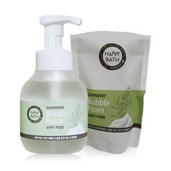 HAPPY BATH - Soapberry Set: Bubble Foam 300ml + Refill 300ml