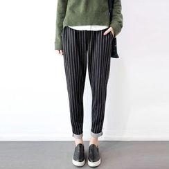 flaneur - 条纹哈伦裤