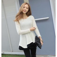 REDOPIN - Rib-Knit A-Line Top