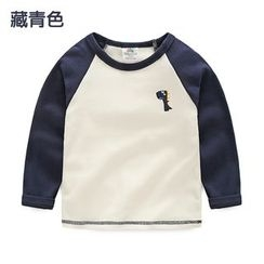 Seashells Kids - Kids Embroidered Raglan Long-Sleeve T-Shirt