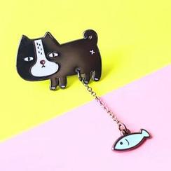 Cute Essentials - Cat / Boat Brooch