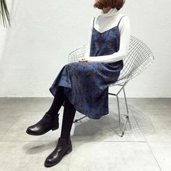 A7 SEVEN - 碎花带雪纺带连衣裙