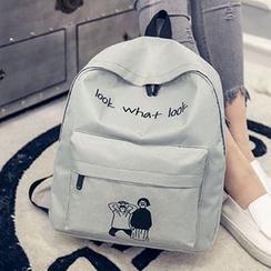 Diamante - Printed Canvas Backpack