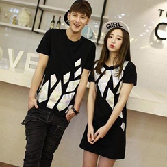 Azure - Couple Matching Holographic T-Shirt / T-Shirt Dress