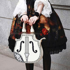 Kikolulu - Floral Embroidered Violin Handbag
