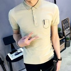 JORZ - 纯色短袖马球衫