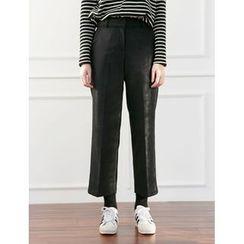 FROMBEGINNING - Wool Blend Straight-Cut Pants