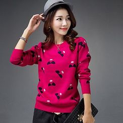 Romantica - Printed Long-Sleeve Knit Top