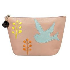 ans - Bird & Tree Appliqué Zip Pouch
