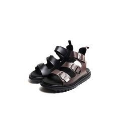 Rememberclick - Faux-Leather Buckled-Strap Sandals