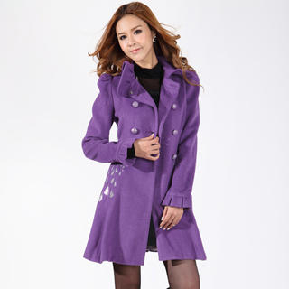 O.SA - Wool-Blend Sequined-Heart Coat