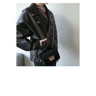 WITH IPUN - Velvet Mini Shoulder Bag