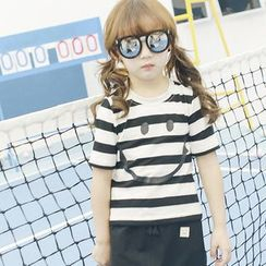 Lemony dudu - Family Matching Short-Sleeve Striped T-Shirt