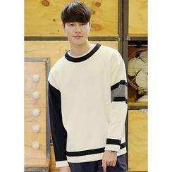 JOGUNSHOP - Contrast-Trim Sweater