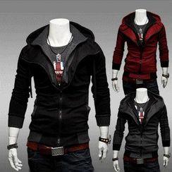 Aozora - Inset Placket Hooded Jacket