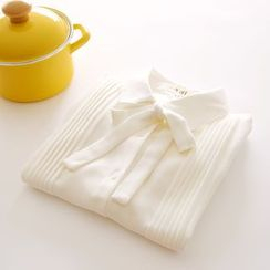 布丁坊 - 蝴蝶結雪紡襯衫