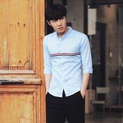 MRCYC - Long-Sleeve Stripe-Trim Shirt