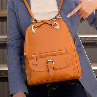 MBaoBao - Faux-Leather Multi-Way Backpack