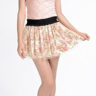 9mg - Floral Tulle Skirt