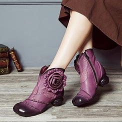 LARKSPUR - 真皮碎花短靴