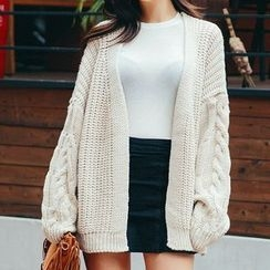 Frontline - Cable Knit Chunky Cardigan