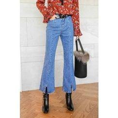 PPGIRL - Flat-Front Boot-Cut Jeans