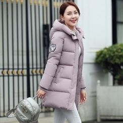 Rosehedge - Patch Embroidered Hooded Padded Coat