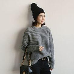 NANING9 - Wool Blend Rib-Knit Sweater