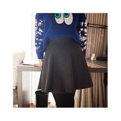 MASoeur - Band-Waist A-Line Skirt