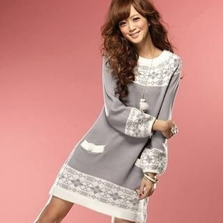 Tokyo Fashion - Patterned Knit Dress