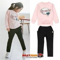 BILLY JEAN - Girls Set: Graphic Sweatshirt + Cotton Pants