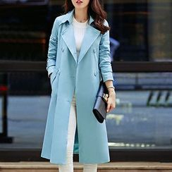 SEYLOS - Double-Breasted Trench Coat with Sash