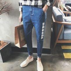 Danjieshi - Printed Slim-Fit Jeans