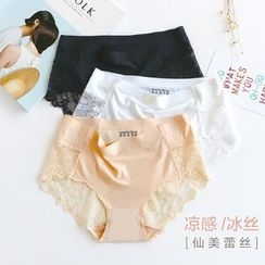 Fitight - Lace Panel Seamless Panties