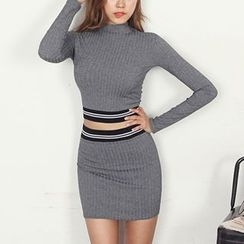 Aurora - Set: Knit Top + Skirt