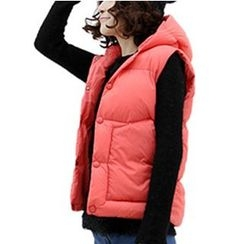 Raisin - Hooded Down Vest