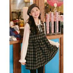 icecream12 - Sleeveless Plaid A-Line Mini Dress