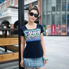Zosia - 短袖图案T恤