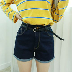 Dodostyle - High-Waist Denim Shorts