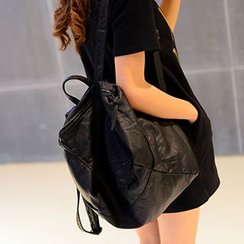 Lunaby - Faux-Leather Backpack