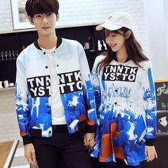 Proemio - Couple Matching Printed Button Jacket / Dress