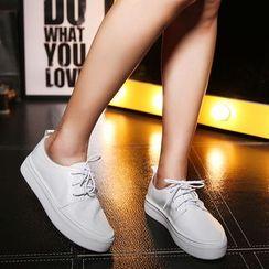 Monde - 系带真皮鞋