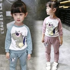 Merry Go Round - Kids Set: Print Pullover + Sweatpants