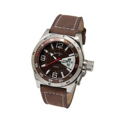 Kenny & co. - Brown Quartz Watch with Leather Strap