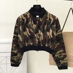 DIYI - Cropped Camo jacket