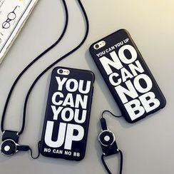 Cartoon Face - 字母电话保护套连颈带 - 苹果iPhone 6 / 6 Plus / 7 / 7 Plus