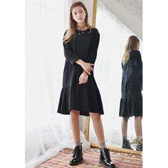 GOROKE - Round-Neck Cotton Midi Dress