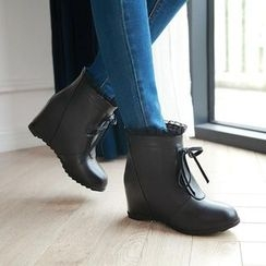 佳美 - 蝴蝶結內增高短靴